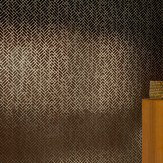 Erica Wakerly Tapet Cafe Tile 001 Brown / Gold Wallpaper - Product code: Tapet Cafe Tile 001