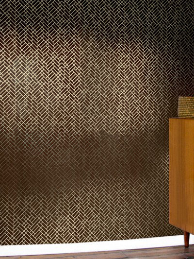 Image of Erica Wakerly Wallpapers Tapet Cafe Tile 001 brown/gold, Tapet Cafe Tile 001
