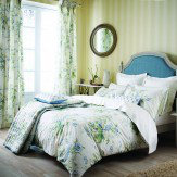Sanderson Tournier Quilted Throw Blue