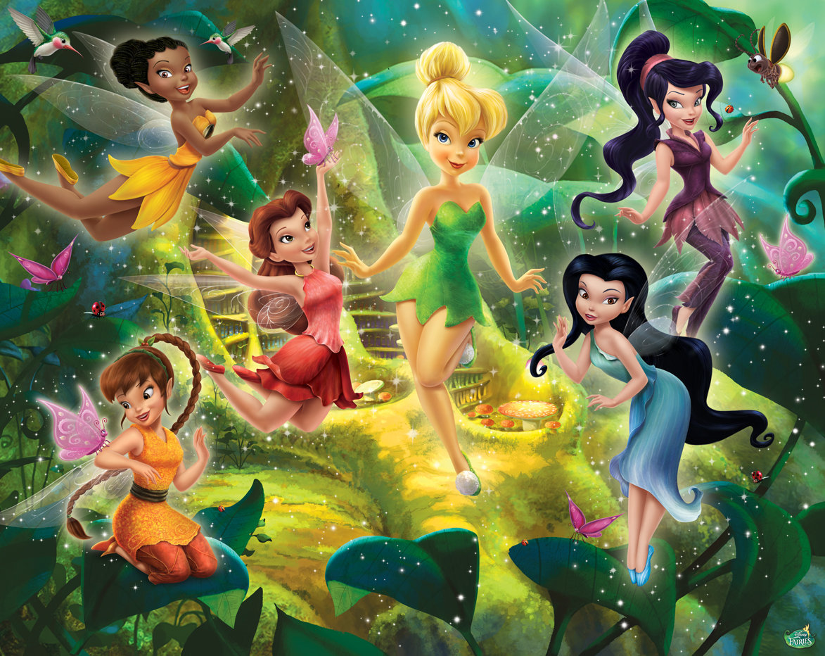 disney fairies by walltastic wallpaper direct. Black Bedroom Furniture Sets. Home Design Ideas