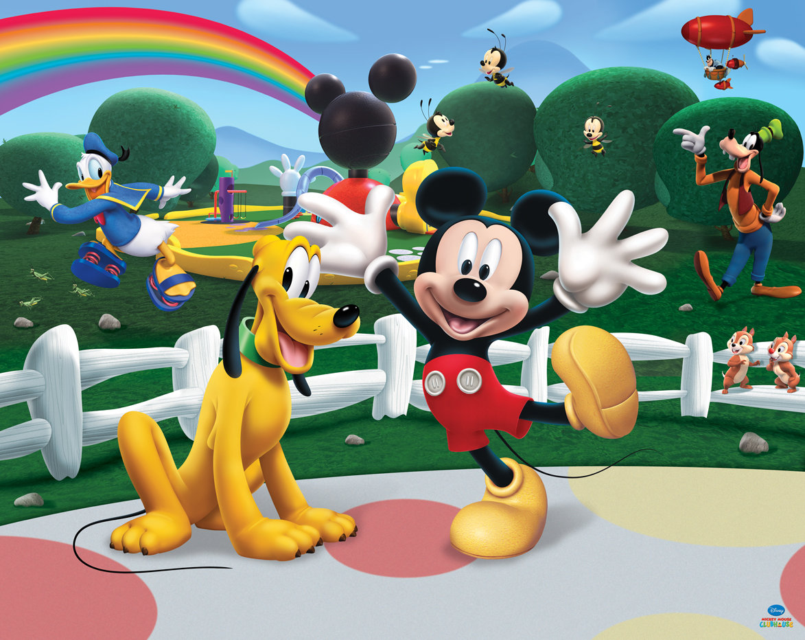Superb Walltastic Disney Mickey Mouse Club House Wallpaper Main Image Part 6