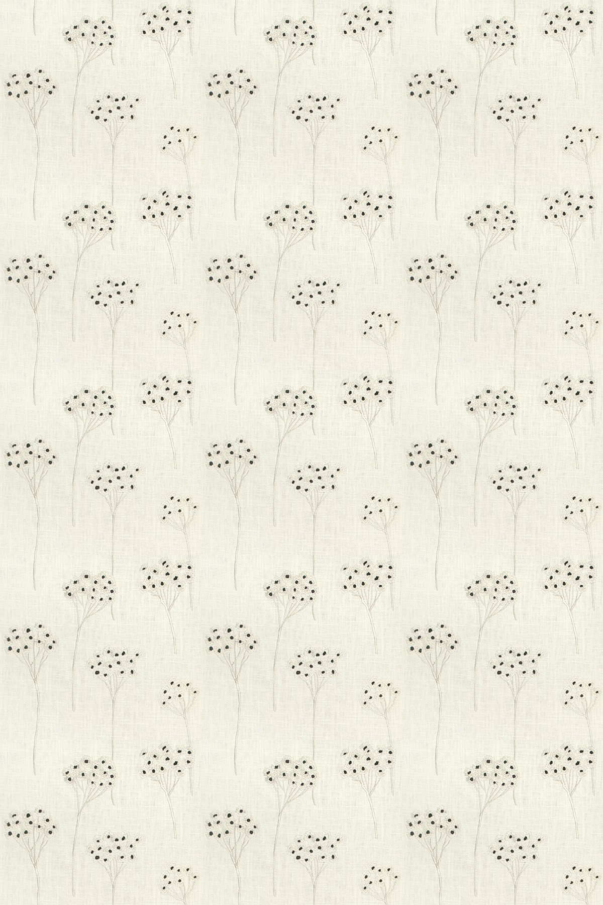 Image of Clarke & Clarke Fabric Cowslip Charcoal, F0485/02