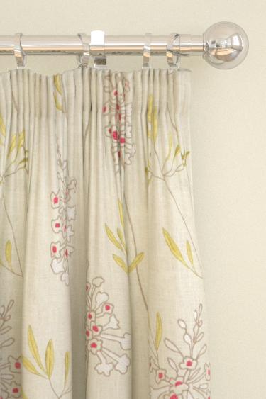 Clarke & Clarke Foxglove Raspberry Curtains