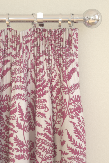 Clarke & Clarke Wild Fern Raspberry Curtains
