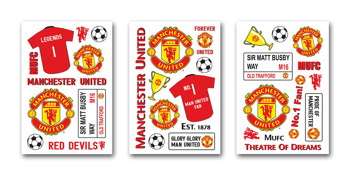 manchester united wall sticker by brewers wallpaper direct