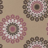 Soleil Bleu Rica Pink / Brown / White / Bronze Wallpaper - Product code: WT1011/050
