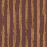 JAB Anstoetz  Splendid Stripe Burgundy / Bronze Wallpaper