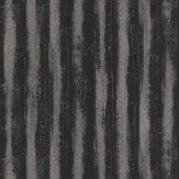 JAB Anstoetz  Splendid Stripe Black / Metallic Silver Wallpaper