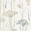 Harlequin Gardinum Chalk / Wedgwood / Gold Wallpaper