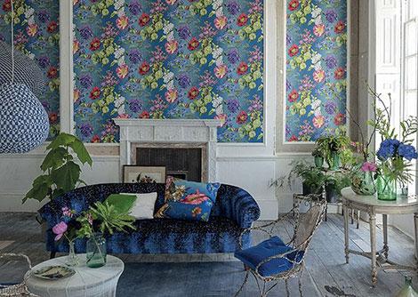 Designers Guild Alexandria Lapis Wallpaper