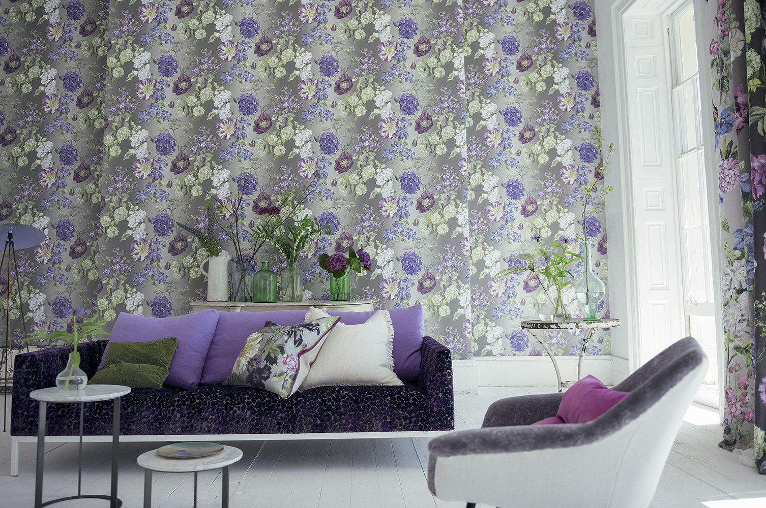 Alexandria Amethyst By Designers Guild Purple Green