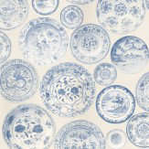 Andrew Martin Cargo Blue / White Wallpaper - Product code: CG01-BLUE/WHITE