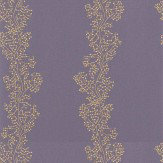 Sanderson Sparkle Coral Purple / Gold Wallpaper
