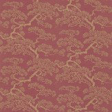 Sanderson Keros Red / Gold Wallpaper - Product code: 213042