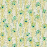 Sanderson Themis Teal / Cream Wallpaper