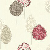 Arthouse Dante Motif Red Red / Brown Wallpaper