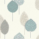Arthouse Dante Motif Teal Wallpaper