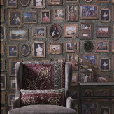 Andrew Martin Gallery Charcoal Wallpaper
