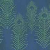 Matthew Williamson Peacock Jade / Midnight Blue Wallpaper - Product code: W6541-01