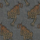 Matthew Williamson Tyger Tyger Metallic Orange / Gold / Chocolate Wallpaper