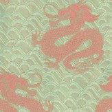 Matthew Williamson Celestial Dragon Rose / Metallic Gold / Blue Wallpaper - Product code: W6545-01