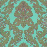 Matthew Williamson Pegasus Metallic Gold / Turquoise / Cerise Wallpaper - Product code: W6540-02