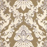 Matthew Williamson Pegasus Cream / Metallic Gold Wallpaper - Product code: W6540-03