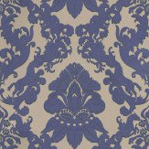 Matthew Williamson Pegasus Metallic Purple / Taupe Wallpaper