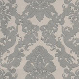 Matthew Williamson Pegasus Metallic Silver / Taupe Wallpaper