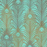 Matthew Williamson Peacock Antique Gold / Jade Wallpaper - Product code: W6541-02