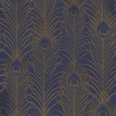Matthew Williamson Peacock Antique Gold / Violet Wallpaper - Product code: W6541-03