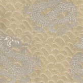 Matthew Williamson Celestial Dragon Taupe / Metallic Gold Wallpaper