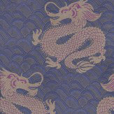 Matthew Williamson Celestial Dragon Blue / Amethyst / Metallic Gold Wallpaper