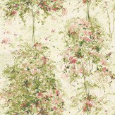 Nina Campbell Lochwood Green / Coral Wallpaper