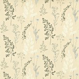 Sanderson Summer Meadow Charcoal / Stone Fabric