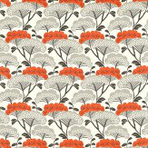 Sanderson Tree Tops Charcoal / Coral Fabric