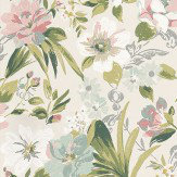 Nina Campbell Rosslyn Aqua / Pink / Grey / Green Wallpaper