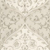 Nina Campbell Montrose Grey / Off White Wallpaper