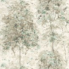 Nina Campbell Lochwood Sepia / Aqua Wallpaper