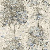 Nina Campbell Lochwood Charcoal / Indigo Wallpaper