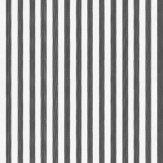 Farrow & Ball Closet Stripe Black / Off White Wallpaper - Product code: BP 351