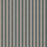 Farrow & Ball Closet Stripe Chocolate / Black Wallpaper - Product code: BP 352