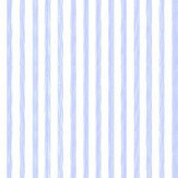 Farrow & Ball Closet Stripe Sky Blue / Cream Wallpaper