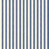 Farrow & Ball Closet Stripe Indigo Blue / Off White Wallpaper