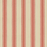 Farrow & Ball Block Print Stripe Stone / Red Wallpaper