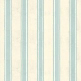 Farrow & Ball Block Print Stripe Off White / Sky Blue Wallpaper
