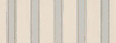 Farrow & Ball Block Print Stripe Stone / Metallic Silver / Blue Wallpaper - Product code: BP 751