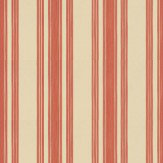 Farrow & Ball Tented Stripe Beige / Red Wallpaper