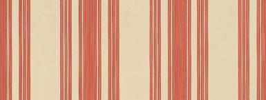 Farrow & Ball Tented Stripe Beige / Red Wallpaper - Product code: BP 1351