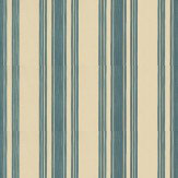 Farrow & Ball Tented Stripe Teal / Beige Wallpaper